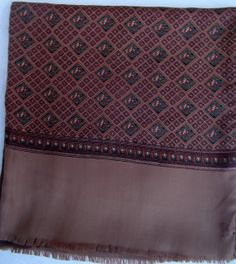 Your place to buy and sell all things handmade Baroque, Bohemian Rug, Shawl, Ready To Wear, Buy And Sell, Wool, Silk, Brown, How To Wear