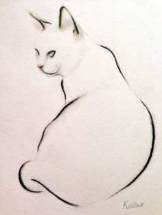 Cat Study - Sitting, Kellas Campbell