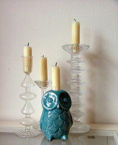 fantastic vintage owl candlestick