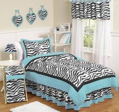 Girls Bedroom Zebra zebra girls rooms | our zebra print looks amazing when it's paired