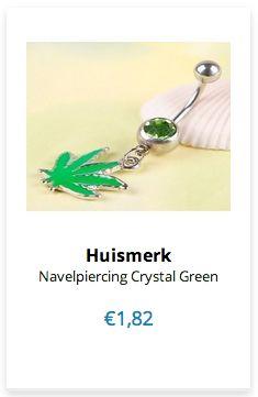 Navelpiercing Crystal Green www.ovstore.nl/nl/navelpiercing-crystal-green.html