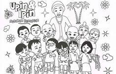 upin ipin family coloring page