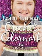 Learn Tunisian Crochet Colorwork. This is going to be my winter treat for myself once the snow flies up here in Alberta.