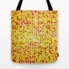 Stain Glass of Orange, Yellow, Red and Pink Joy Tote Bag by Celeste Sheffey of Khoncepts - $22.00