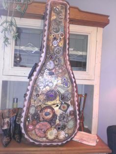 Altered Guitar Case by Anne-Marie Martin