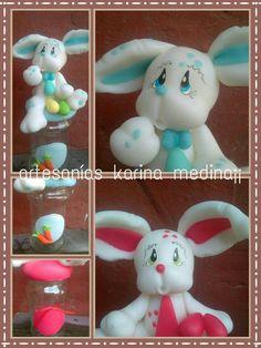 Conejos de pascuas con frascos !!!
