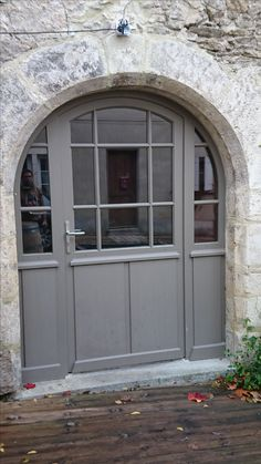 porte fenêtre 2 vantaux avec imposte petits bois collés volet