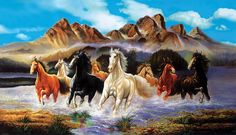 Turn Your Photo into a Painting. Wildlife Paintings, Nature Paintings, Wildlife Art, Landscape Paintings, Family Painting, Large Painting, Beautiful Horse Pictures, Beautiful Horses, Sports Painting