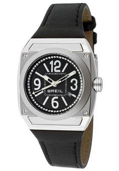 Breil Women's Gear Black Genuine Leather