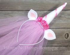 RAINBOW UNICORN HEADBAND Hair Accessory costume by wingsnthings13