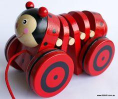 Toys Link - Wooden Pullalong Toy - Ladybird