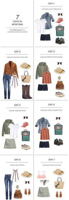7 Days in Montana : The Perfect Pieces for a Versatile Honeymoon Wardrobe…