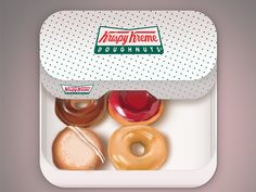 This is amazing icon design!! more here: http://pinterest.com/appsifyme/ios-icons/   Krispy Kreme #iOS #Icon Concept