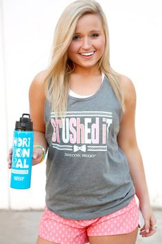 "NEW! ""Crushed It"" - Super soft and super light-weight workout tank from our new JLB Fit Collection! Get yours online at WWW.JADELYNNBROOKE.COM"