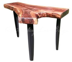 SALE End Table Walnut Table Natural Edges Dark by KentuckyLiveEdge