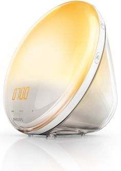 Philips Wake-Up Light Alarm Clock HF3520/01 Coloured Sunrise Simulation - 5 Sounds and Radio Function by Philips