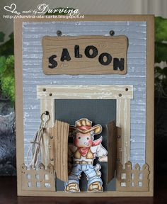 Saloon Card with Lucky Edwin Magnolia stamp