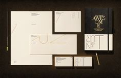 Stationery system letterpressed on natural-colored art paper / by Turnstyle