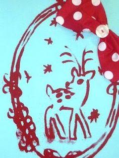 Two Bird Collection: Girls Aqua Tee - Vintage Christmas Deer - Red Spot Bow - by smithandbird on madeit