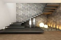 """"""""""" 56 Best Contemporary Stairs Idea For Modern And Fancy Houses """""""" Maravillosas escaleras flotantes """""""" Home Stairs Design, Interior Stairs, Modern House Design, Modern Interior Design, Stair Design, Staircase Design Modern, Railing Design, Home Interior, Stairs In Living Room"""