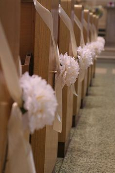 pew decorations for wedding -