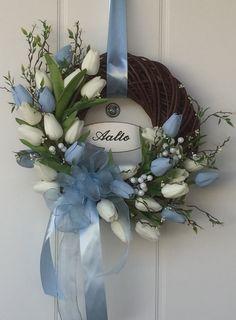 Tulppaanikranssi/Tulipwreath Grapevine Wreath, Grape Vines, Hanukkah, Wreaths, Handmade, Home Decor, Hand Made, Decoration Home, Door Wreaths