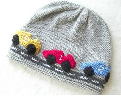Baby Knitting Patterns Boy Knitting Pattern for Race Car Hat - This beanie pattern includes 5 sizes: Newbor. Knitting Terms, Knitting Patterns Boys, Baby Hat Knitting Pattern, Baby Hats Knitting, Beanie Pattern, Crochet Baby Hats, Knitting For Kids, Knitting Projects, Knitted Hats