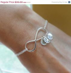 Mothers bracelet  Personalized infinity bracelet by OtisBWeddings, $31.50