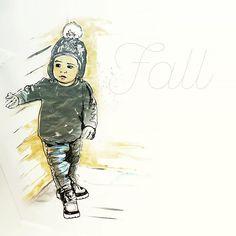 Julia Prusi: Be safe, don't fall! #inktober2016