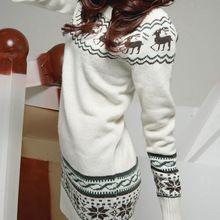 Sweater With Deer Pull Femme Christmas Women Pullover Sweaters And Pullovers Jumper Jersey Mujer Hiver Matching Kerst Trui Kazak(China (Mainland))