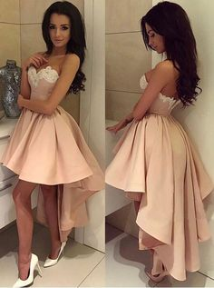 2017 homecoming dresses,high low homecoming dresses,pink homecoing dresses,sexy prom dresses @simpledress2480