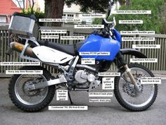 Popular modifications for the Suzuki dual sport motorcycle Suzuki Motocross, Enduro Motorcycle, Motorcycle Camping, Motorcycle Touring, Dr 650, Push Bikes, Racing Seats, Adventure Gear, Dual Sport