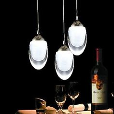 SNEED 250mm Round 3Wx3 LED Light EggShaped Chandelier Light Pendant Lamp for Living Room Bar Saloon Dining Room  Warm White110120V * Be sure to check out this awesome product.