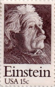US postage stamp, 15 cent.  Einstein.  Issued 1979.  Scott catalog 1774.