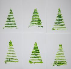 Corrugated Cardboard Christmas Tree Prints
