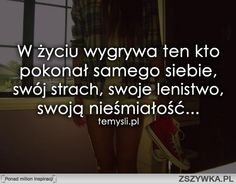 strach zdjęcie cytat - Szukaj w Google Motivational Words, Words Quotes, Me Quotes, Inspirational Quotes, The Words, Jolie Phrase, Romantic Quotes, Daily Quotes, Motivation Inspiration