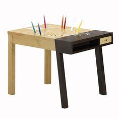 BECKETT petit bureau en chne et cuir Habitat Ideas para