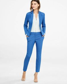 Light Denim Columnist Ankle Pant from EXPRESS
