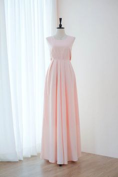 49a866fdd61e Beautiful floor length dress backless style popular classic timeless design  since 2010. Softly fab . Pink Bridesmaid Dresses LongBlush ...