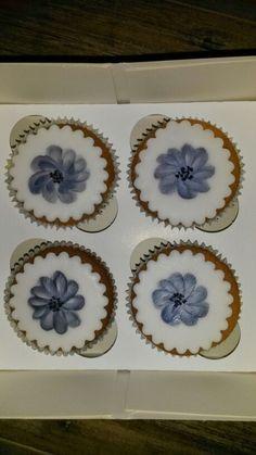 Beschilderd marsepein cupcake