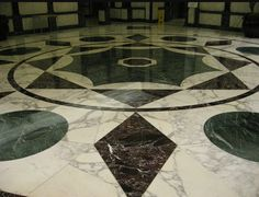 patterned marble floor design for luxury villa interior | Flooring ...