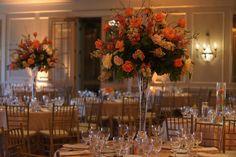 Knestrick by Design: Peaches and Cream Tall Centerpiece, Paris Vase