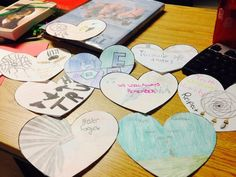 More beautiful hearts done by Art 10 at #Millwood to honour lost children in IRS. #TRCheartgardens @millwood_high
