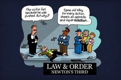 Newton's third law t-shirt (pinned for the image)