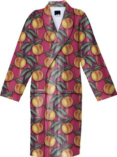 Robe, FRESH PEACHES PATTERN from Print All Over Me