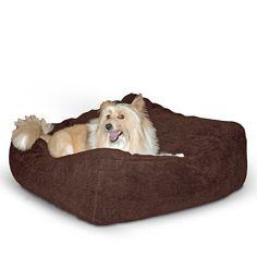 KandH Cuddle Cube Pet Bed, Medium 28-Inch by 28-Inch, Mocha
