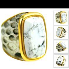 Python ring with howlite www.shopclaudialobao.com