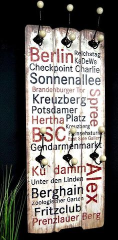 Wandgarderobe Flurgarderobe Garderobe Hakenleiste Holz Landhaus Shabby | eBay