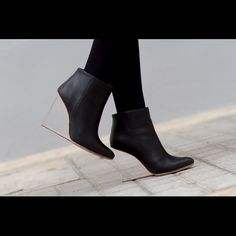 🎀Maison Martin Margiela for H&M🎀 Used but in great condition. There are a few scratches on the heel.  Sold out, rare and hard to find.  OPEN TO REASONABLE OFFERS. Maison Martin Margiela Shoes Ankle Boots & Booties