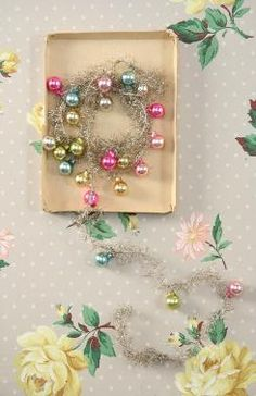 Silver Tinsel Garland. {Cody Foster and Co.} Inspiration: Make using old ornaments and tinsel